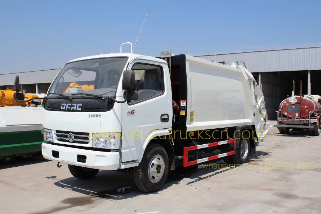specifications and pictures for Rubbish Compacting Truck Dongfeng 5 CBM