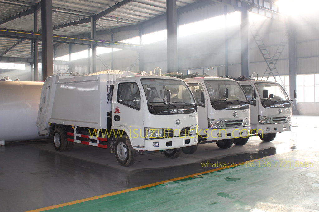 Workshop of build 5CBM Dongfeng Garbage Compactor Truck: