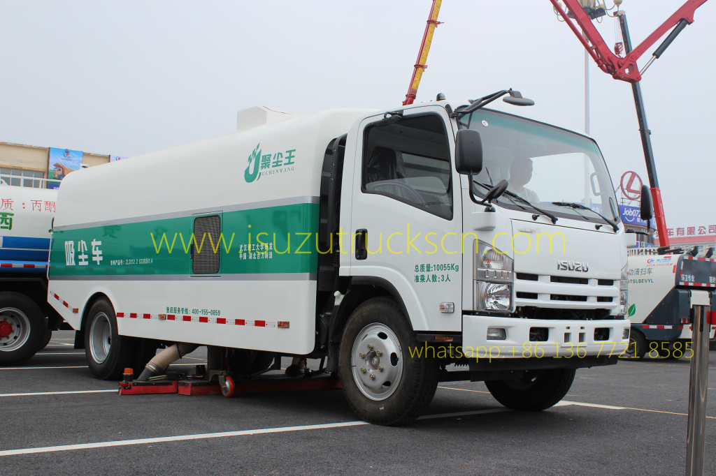 ISUZU Vacuum Truck Mounted Road Sweeper specifications and pictures