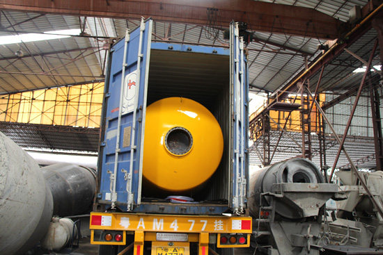 shipment for 8m3 Concrete Mixing Drum Kit