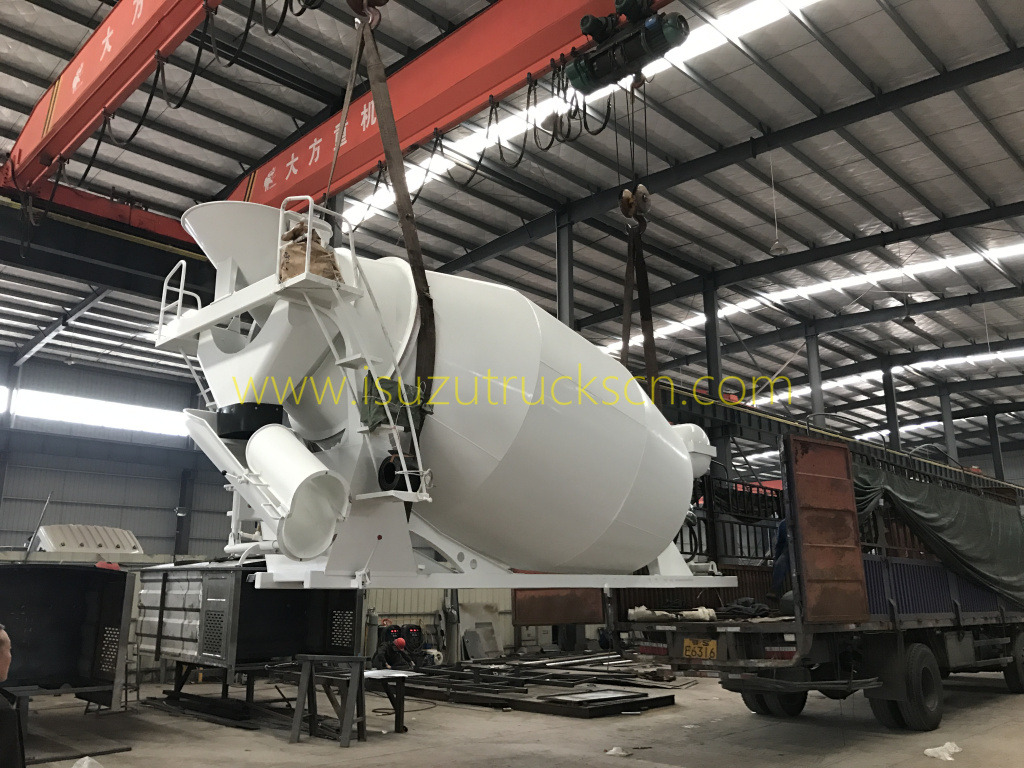 packing the Hydraulic transit mixer drum from factory