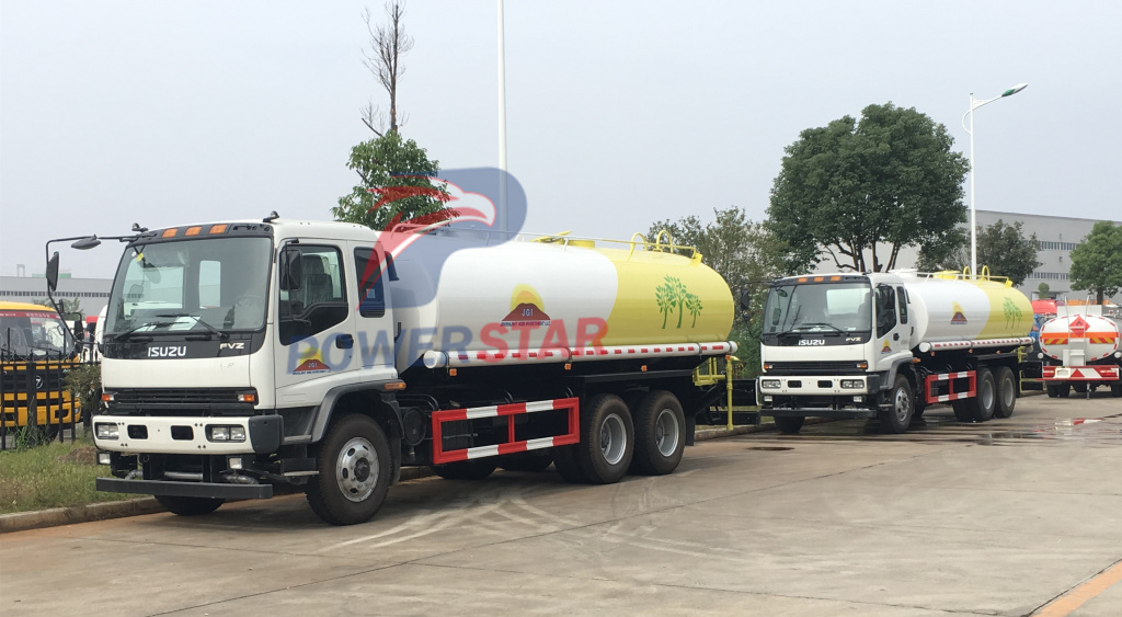 Water Tanker Isuzu watering vehicle 20cbm