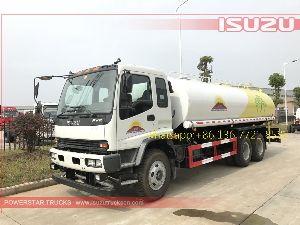 left pictures of 20cbm Water Tanker Isuzu FVZ watering vehicle