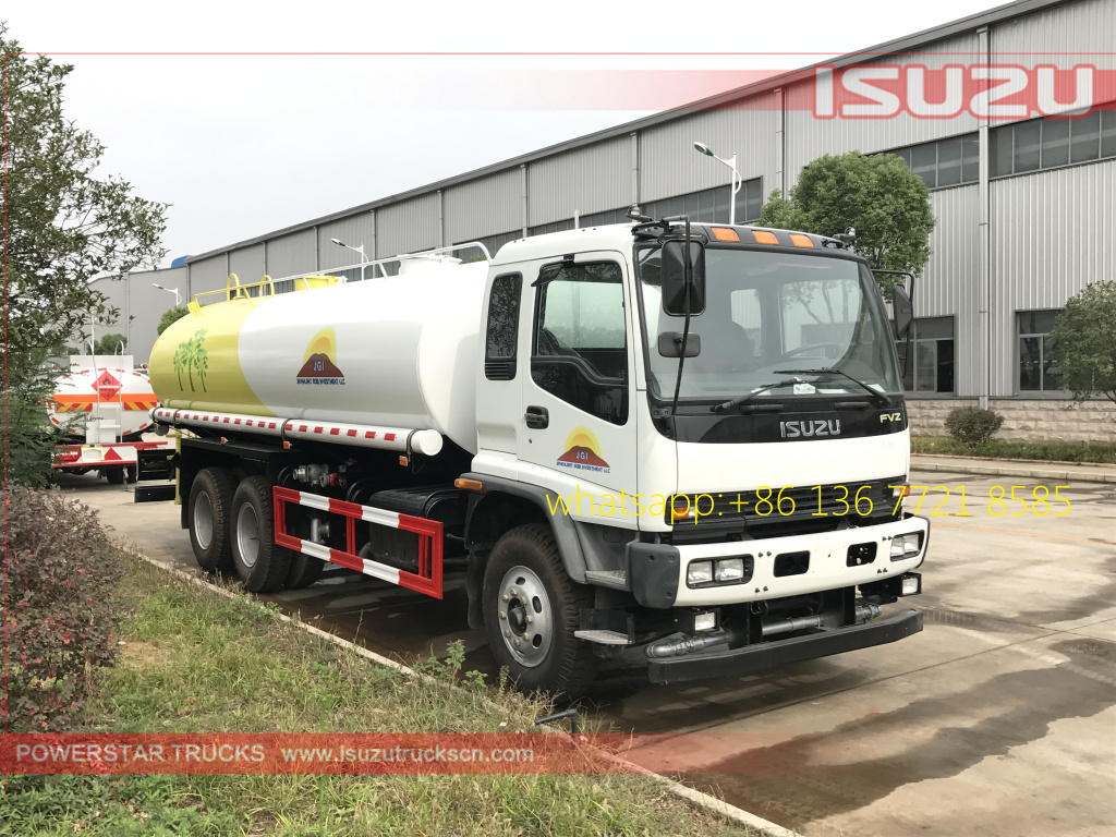 Right pictures of 20cbm Water Tanker Isuzu FVZ watering vehicle