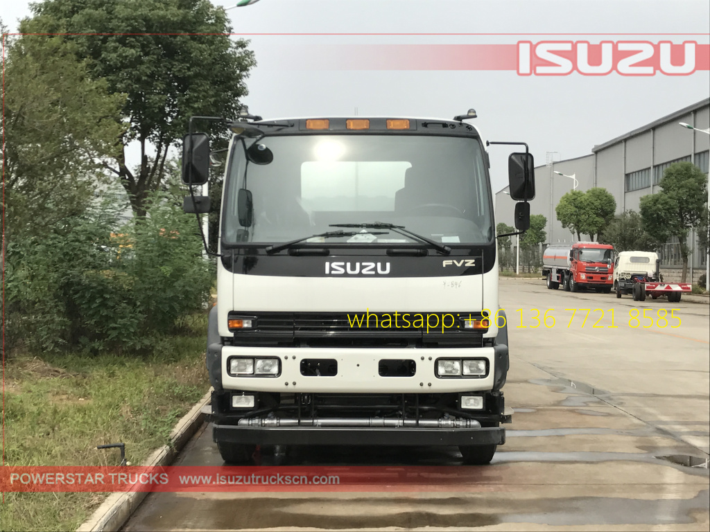 front pictures of 20cbm Water Tanker Isuzu FVZ watering vehicle