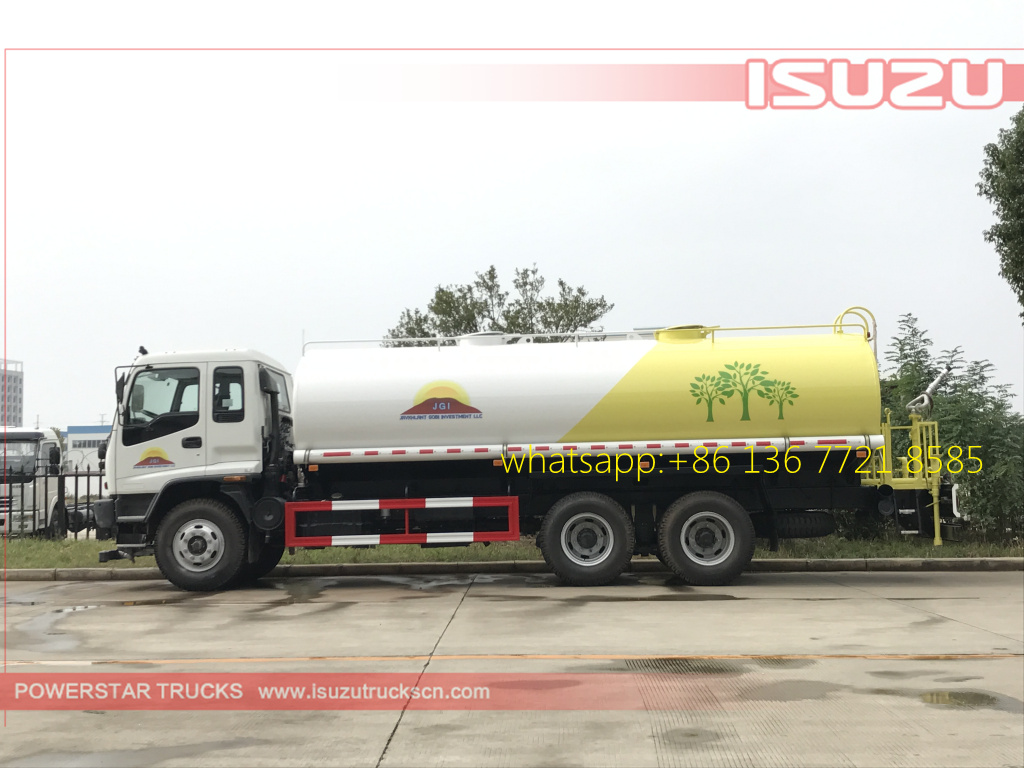 side pictures of 20cbm Water Tanker Isuzu FVZ watering vehicle