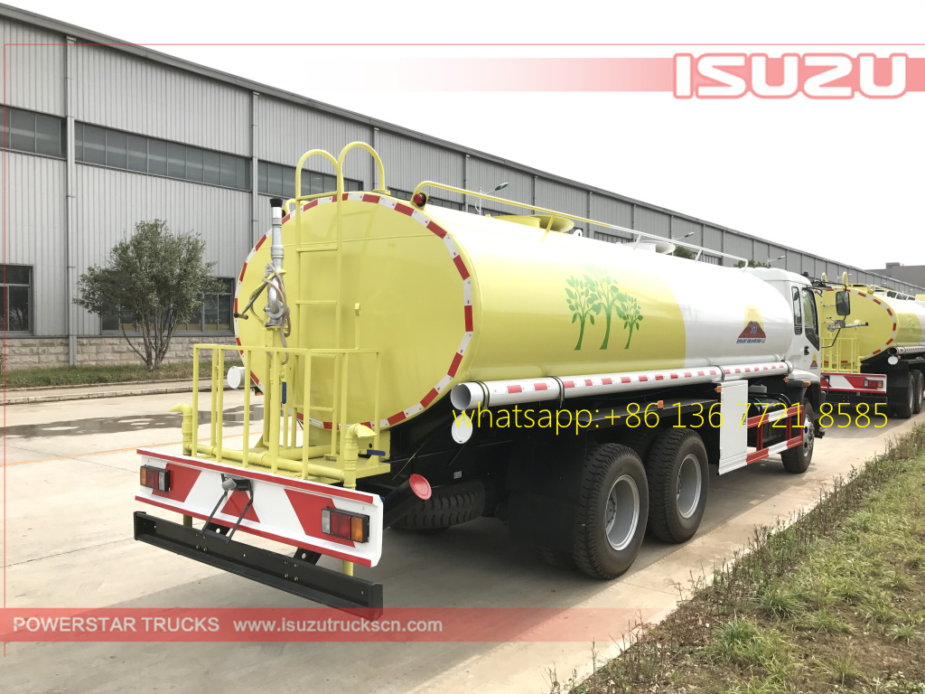 Rear right pictures of 20cbm Water Tanker Isuzu FVZ watering vehicle