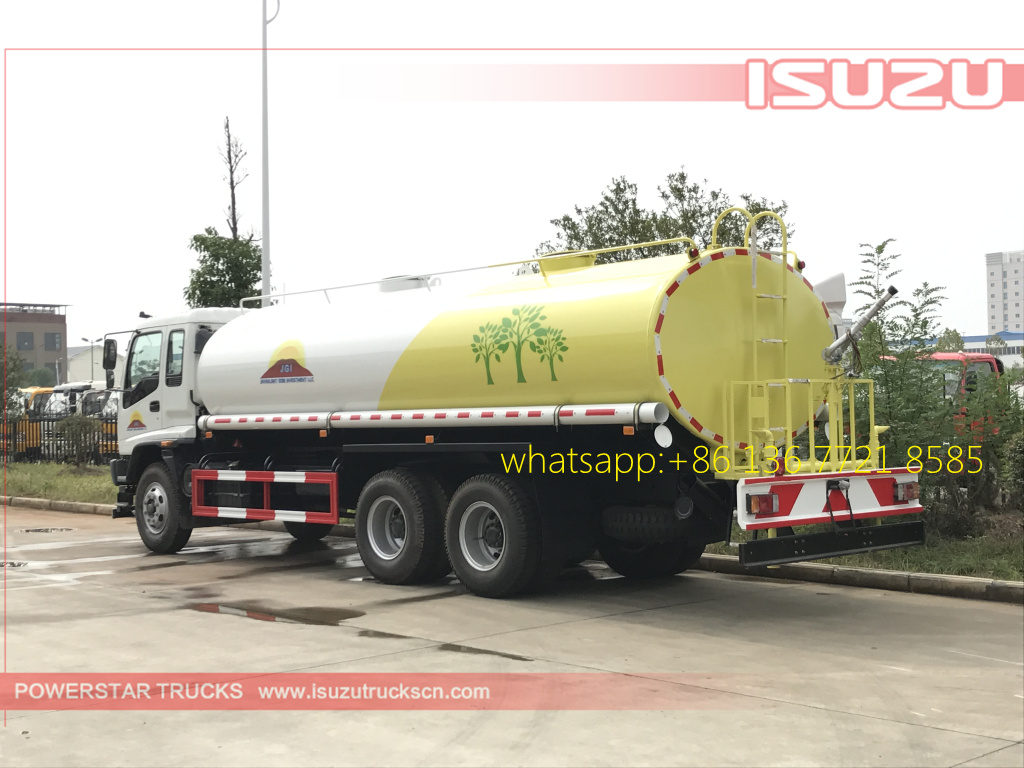 rear left pictures of 20cbm Water Tanker Isuzu FVZ watering vehicle