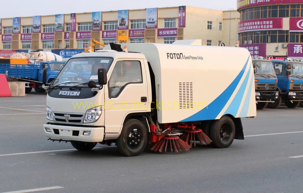 right hand drive road sweeper vehicle foton forland