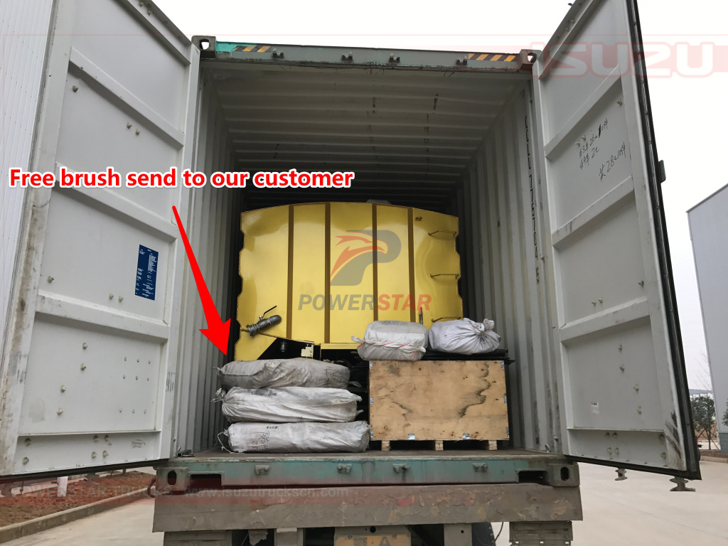 SHIPMENT for road sweeper kit street sweeper super structure