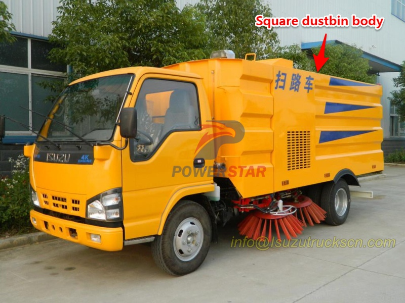 New square dustbin body for road sweeper truck