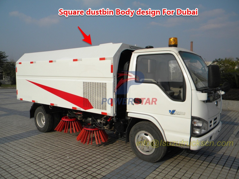 New square dustbin body for road sweeper truck pictures