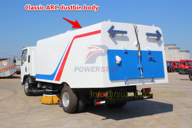 classic ARC dustbin body design for street sweeper truck