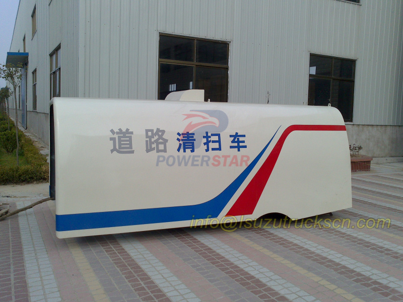 classic ARC dustbin body design for street sweeper truck detail pictures