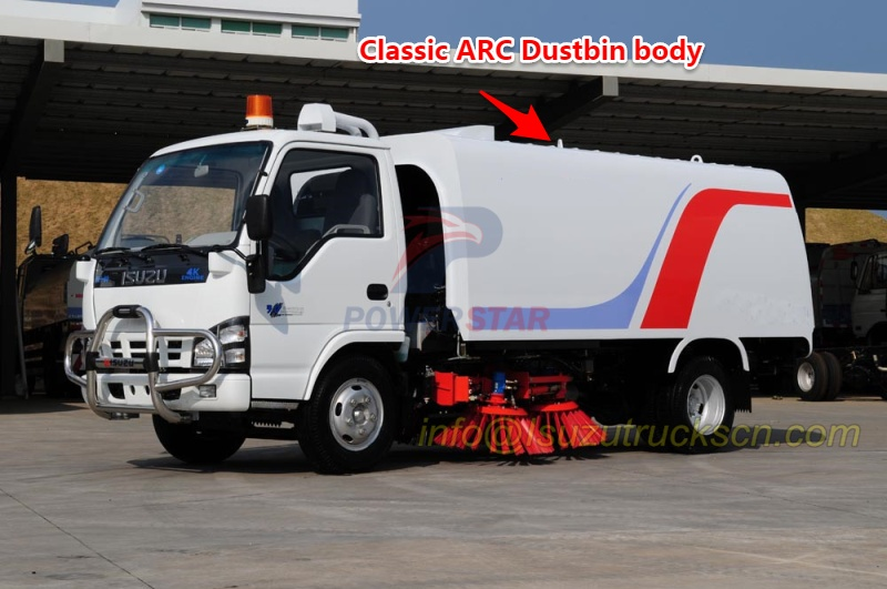 China ARC dustbin body design for street sweeper truck