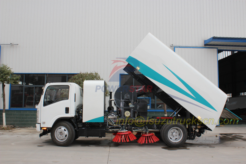 China ARC dustbin body design for street sweeper truck detail pictures