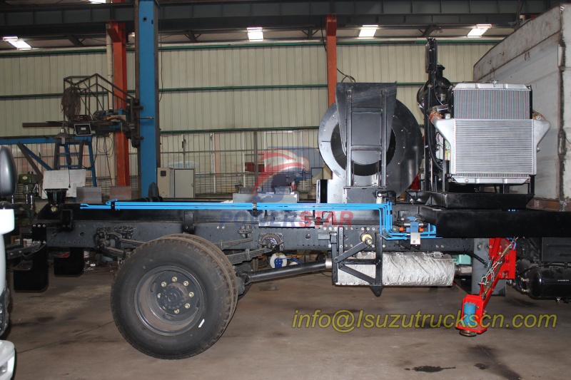 detail picture for road sweeper super structure Hydraulic Pipe line