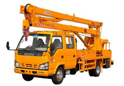 Isuzu aerial working platform truck