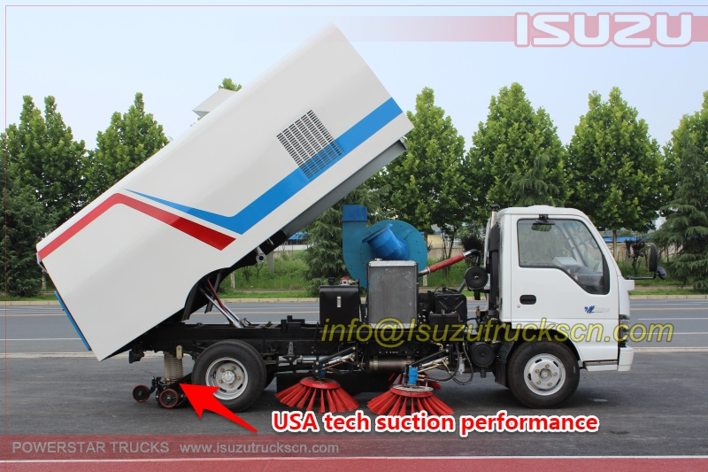 suction nozzle for road sweeper trucks