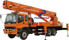 Aerial working truck Isuzu