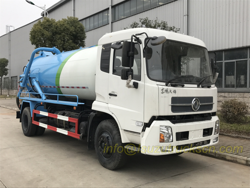 RHD Sewage Vacuum Truck China Dongfeng sewer cleaning trucks