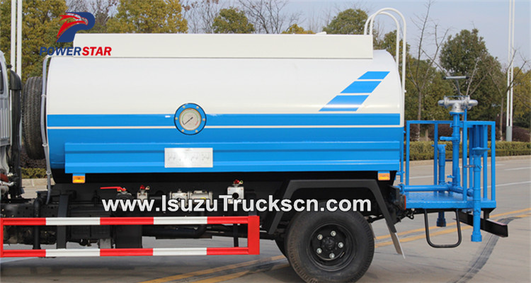 Water tank for Isuzu water bowser trucks