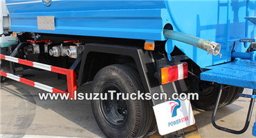 Discharge hose and hose box for water tanker Isuzu 5000L