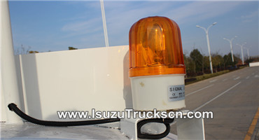 Warning lights for water truck isuzu tanker