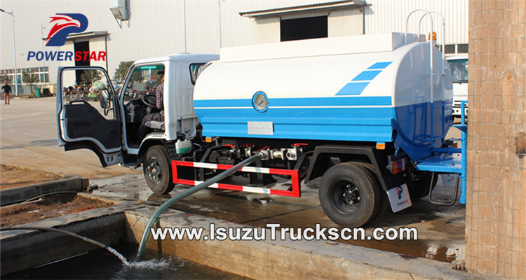 Self priming for the water tank truck isuzu