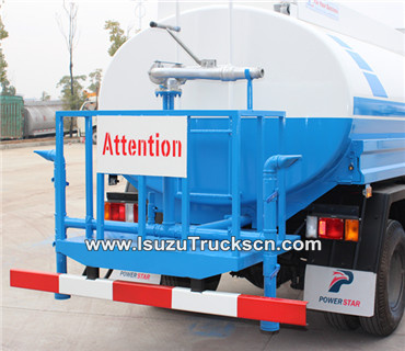rear spray system of isuzu water trucks