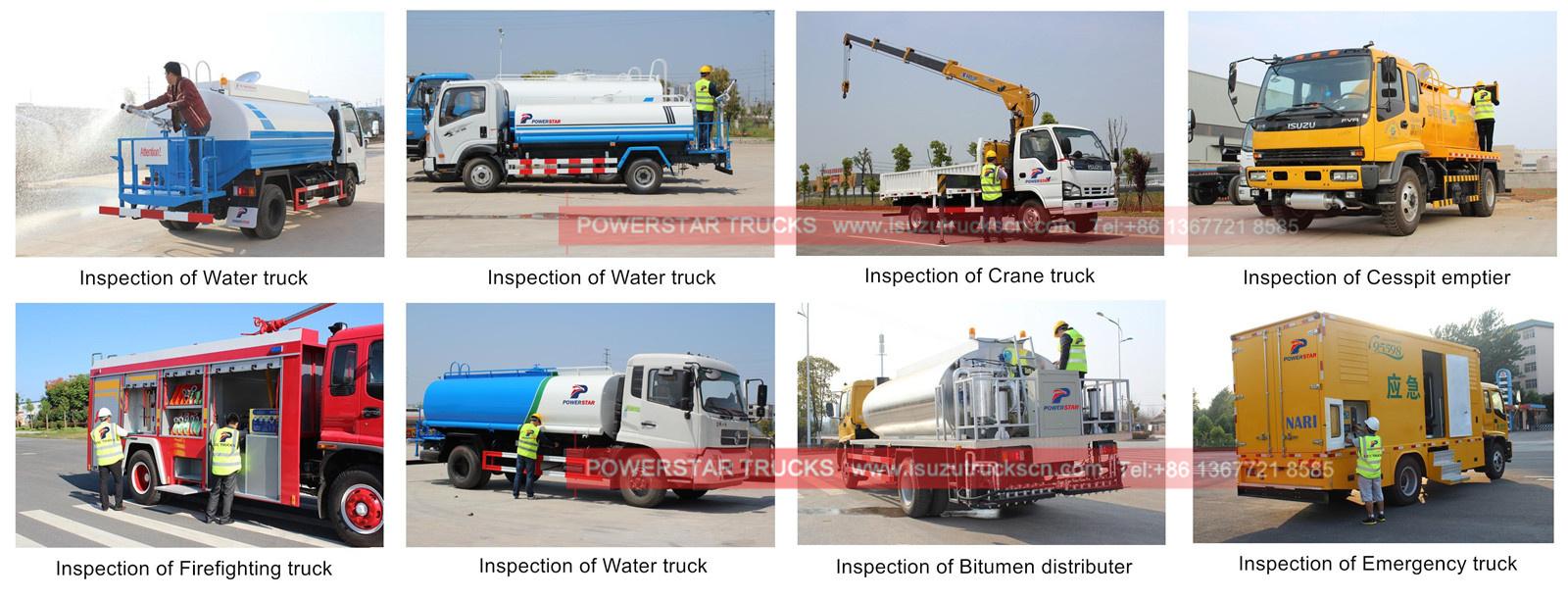 customer build Isuzu tanker trucks for inspectioin and training