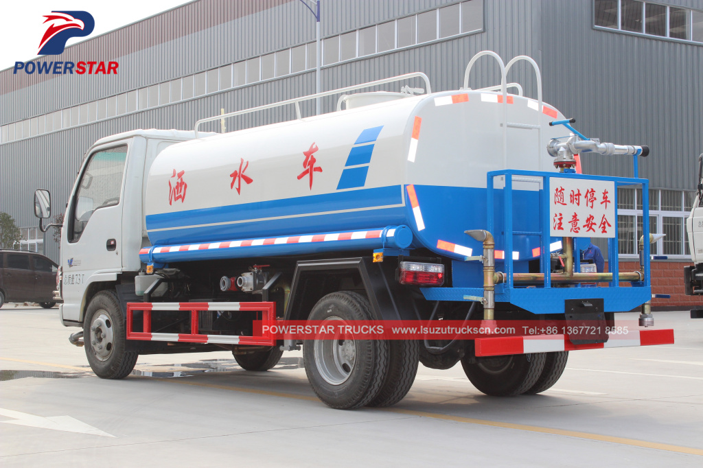 Water Spray Bowser Isuzu 5cbm trucks for sale