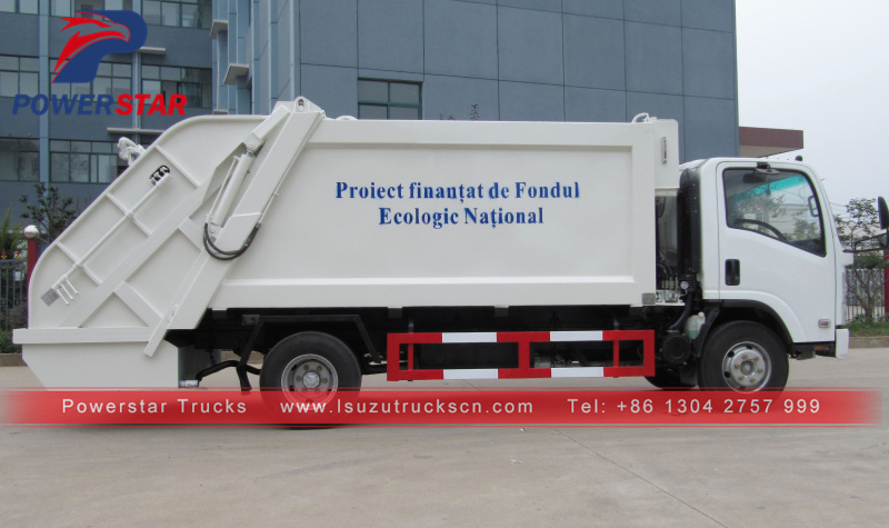 New garbage compactor truck Isuzu compression type garbage truck