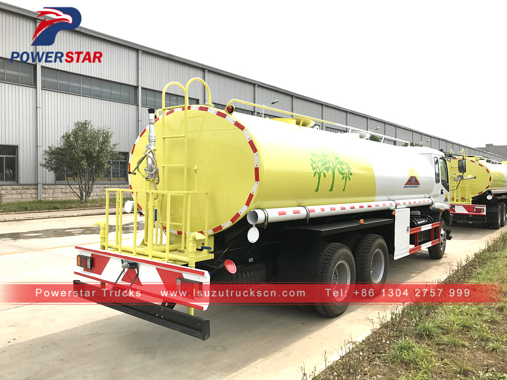 20T 20CBM Isuzu water sprinkler truck water wheel water bowser