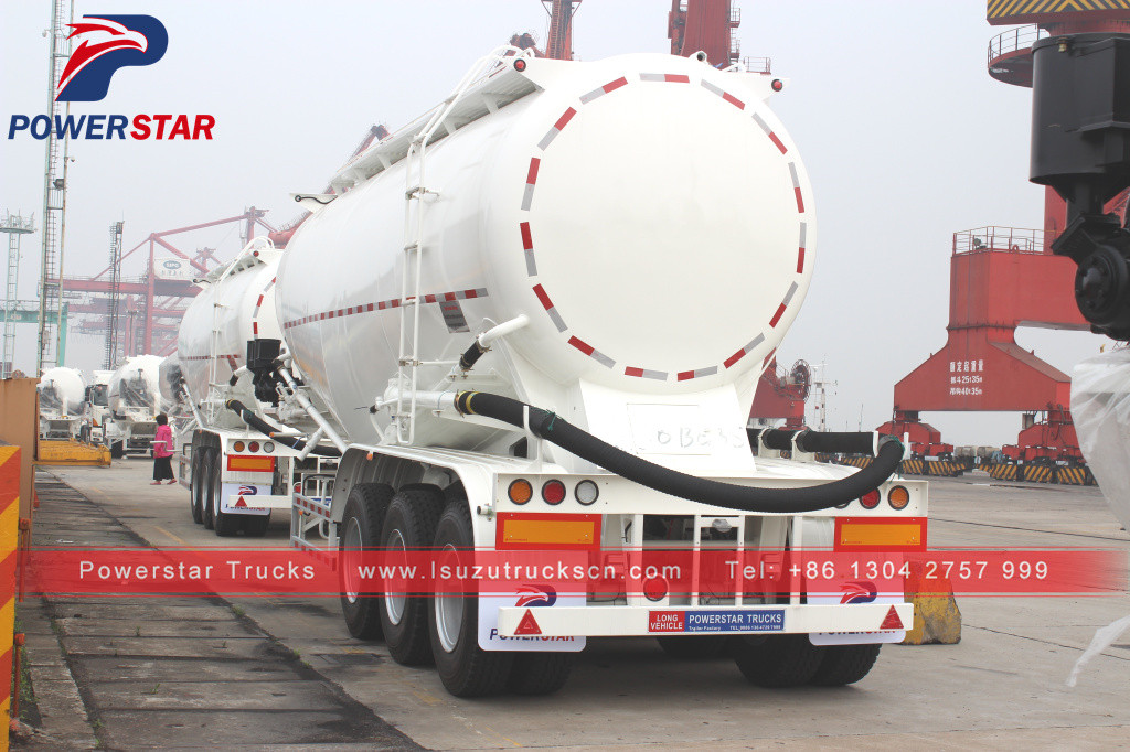 bulk cement trailer powder semi trailer