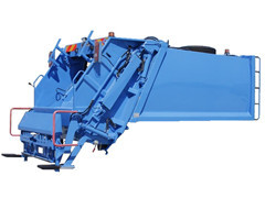 Garbage compactor recyling truck up structure
