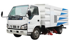 Isuzu multi functional road sweeper by powerstar trucks