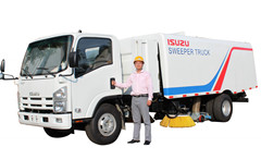 Hydraulic road sweeper machine Isuzu Brush road sweeper