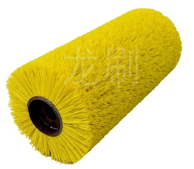 Roller brush for road sweeping trucks