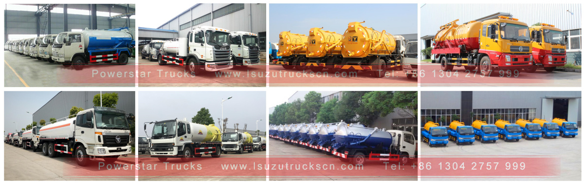 Japanese sewage suction tank truck Isuzu in store for sale