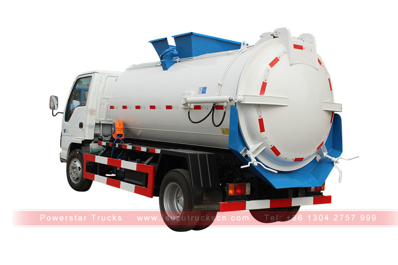 detail picture for Factory vacuum tanker Isuzu (5000 Liters)
