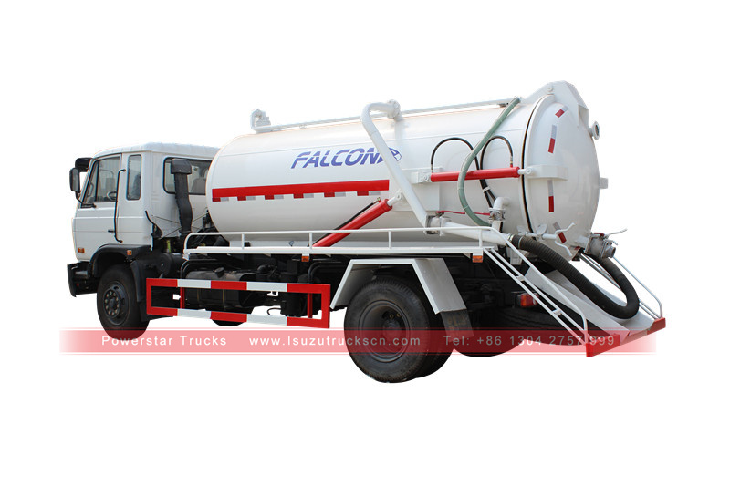 picture for waste water suction tanker Isuzu Tank truck with vacuum pump