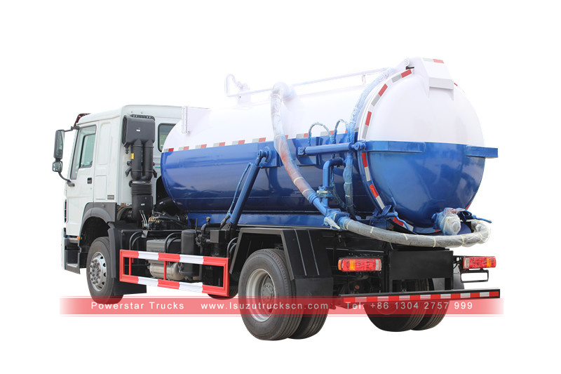 picture for Septic tank vacuum pump truck Isuzu Suction tank truck