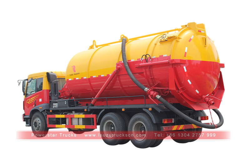 New sewage suction tanker truck Isuzu Vacuum sewage trucks