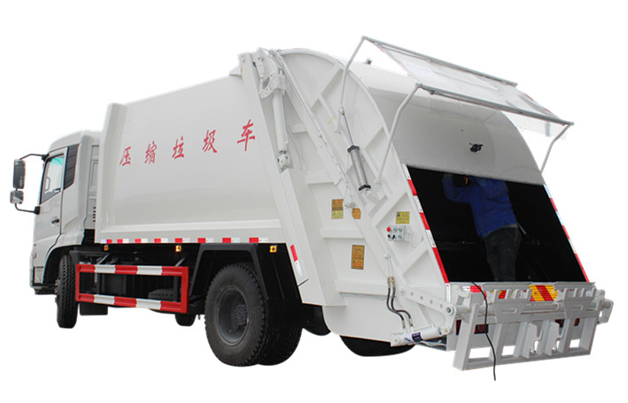 Powerstar compression refuse collector truck for Myanmar clients