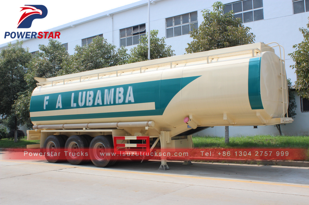 Factory high quality oil transport fuel tanker semi trailer 45000 liters fuel tank trailer