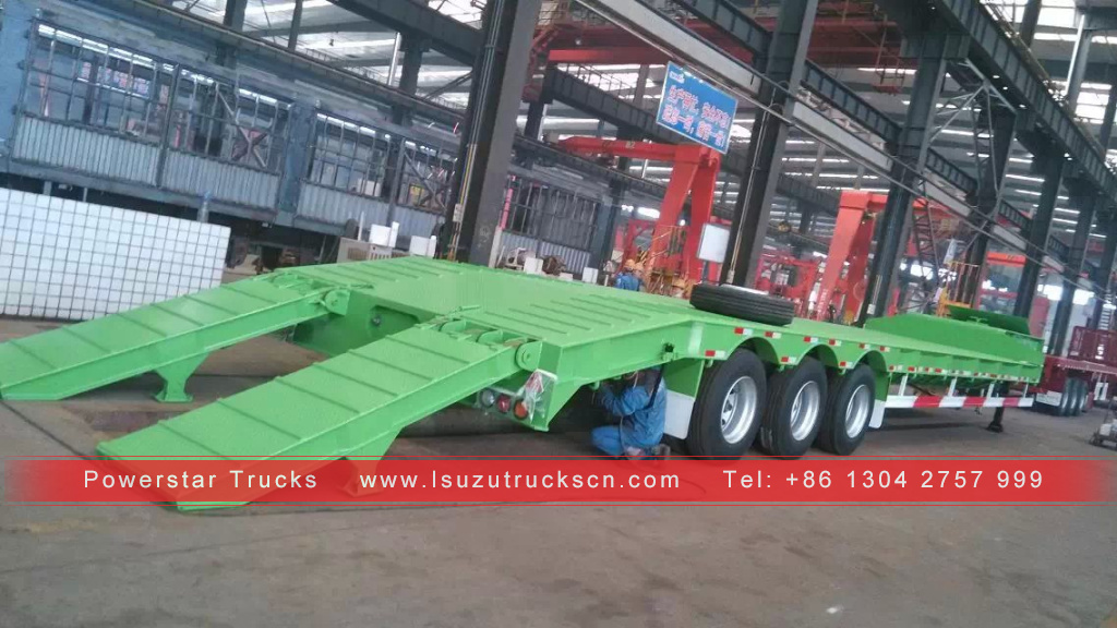 powerstar brand 3 axles lowbed semi trailer for sale
