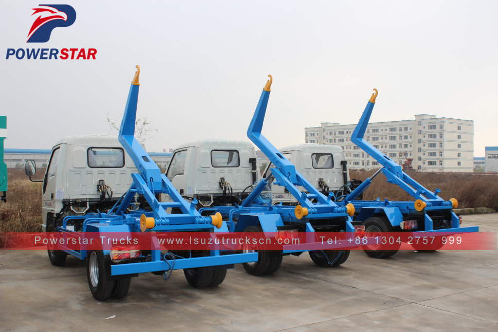 FOTON forland mini hook lift garbage truck for Caribbean sea area customers