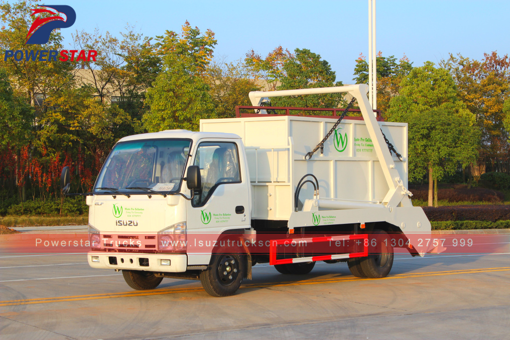3tons 5tons side loader Isuzu swing arm container garbage truck