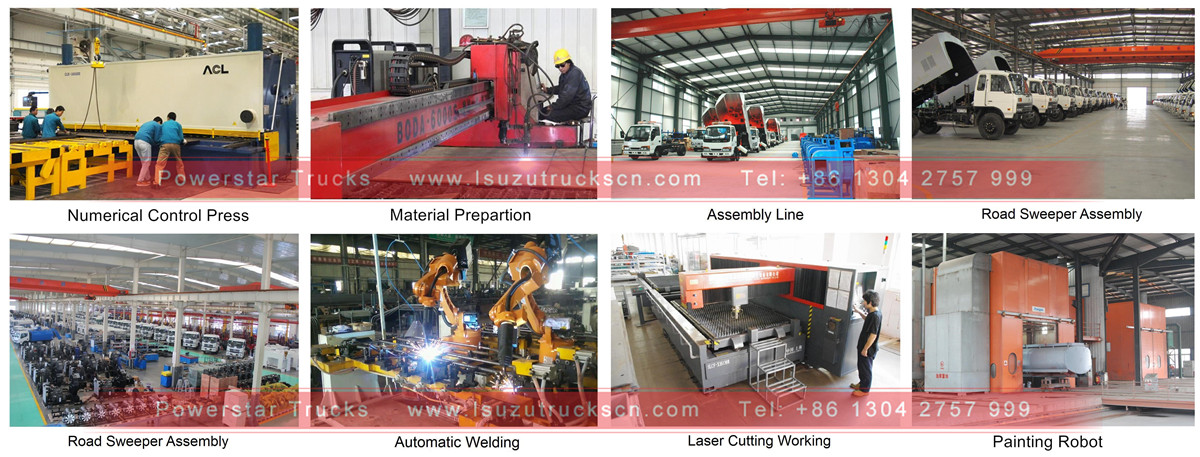 factory workshop for street road sweeper truck from china manufacturer